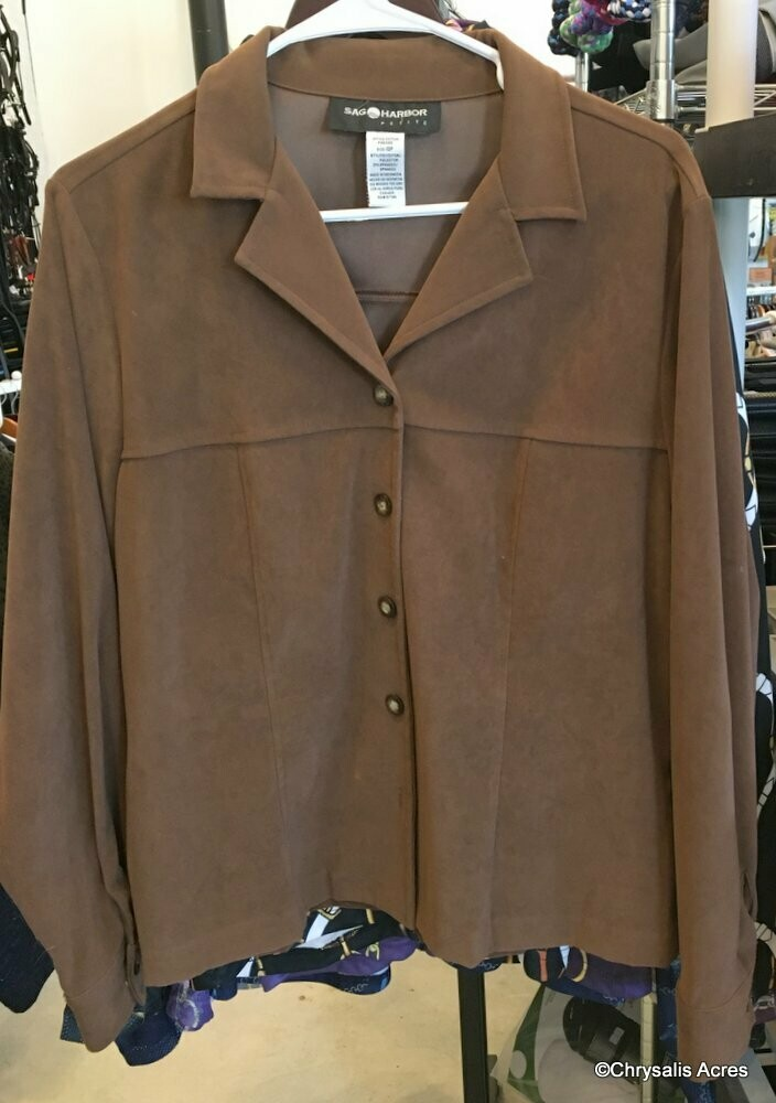 Chocolate Blouse/Jacket Size 10P