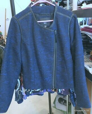 Blue Off Center zip Jacket Size XL