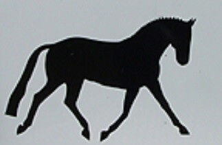 Jumbo Reflective Decal - Warmblood