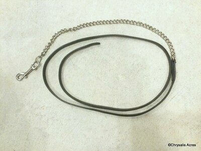 Leather Show Lead w/Chain