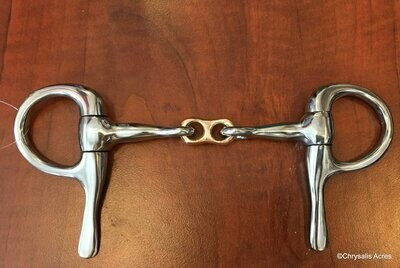 Half Cheek Bit - Copper French Link