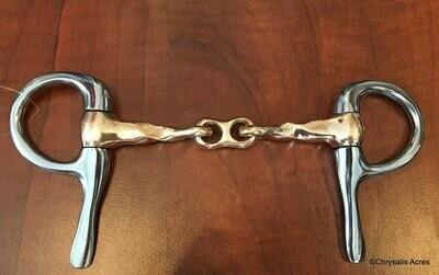 Half Cheek Bit - French Link w/Twist - All Copper