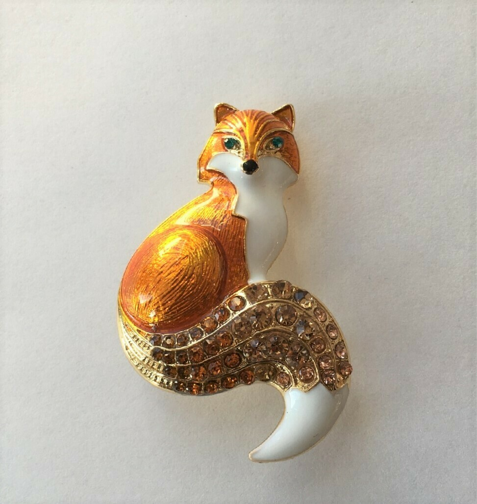 Fox Brooch Pin