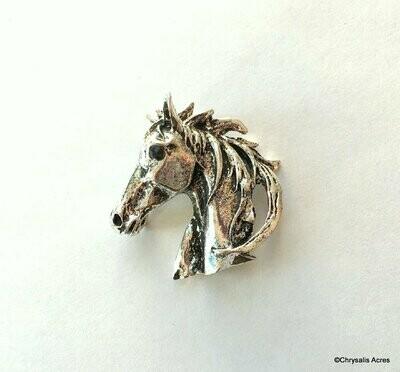 Textured Horsehead Brooch Pin
