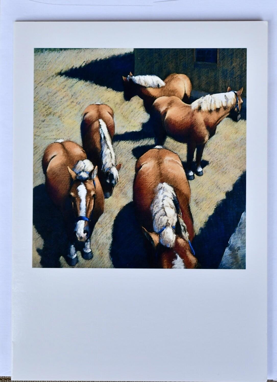 Halflinger Ponies Card