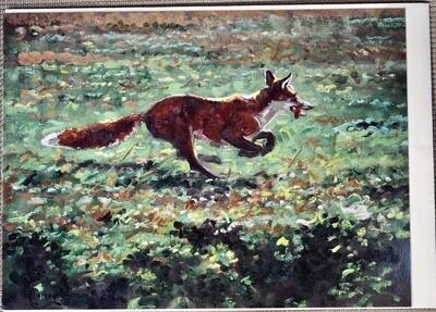Running Fox Card