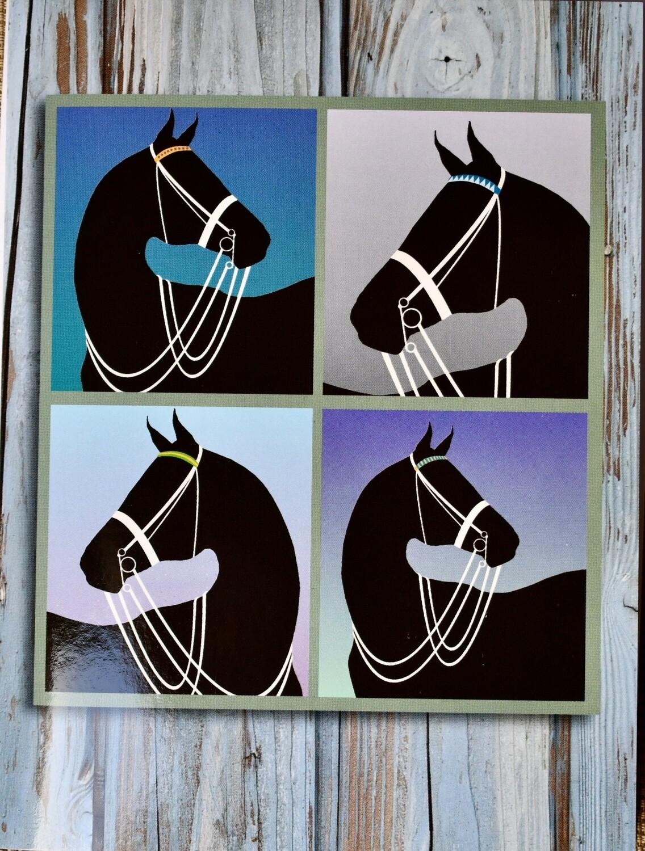 Horse Head Windowpane Card