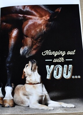 """""""Hanging out with you"""" Card"""