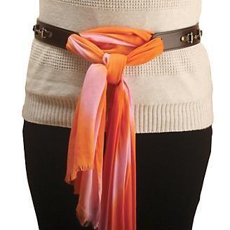 Boutique Leather Scarf Belt