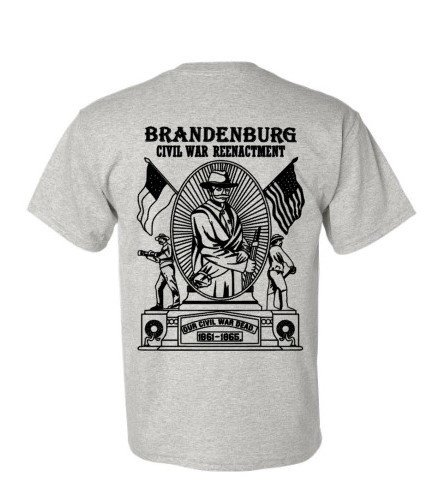 Gray Monument T-shirt:  Sizes Available:  Small or Medium
