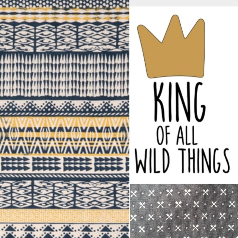 King of all Wild Things Teepee, Play Tent, Reading Nook, Kids' Room Decor, Where the Wild Things Are Teepee, Cotton Canvas Kids Play Tent