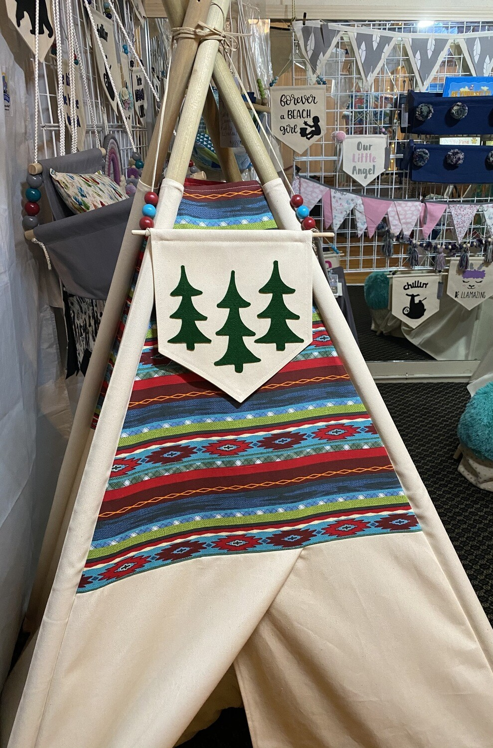 NEW The Lodge Teepee, Play Tent, Handmade Teepee, Kids Room Decor,  Tribal Decor, Nursery Decor