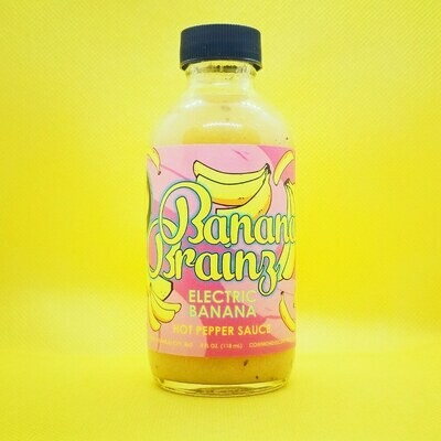 BANANA BRAINZ: Electric Banana Hot Sauce, 4 oz.