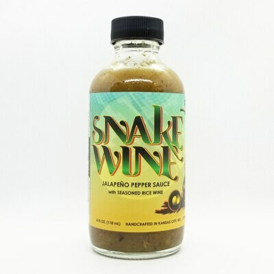 SNAKE WINE: Jalapeno Sauce with Seasoned Rice Wine, 4 oz.