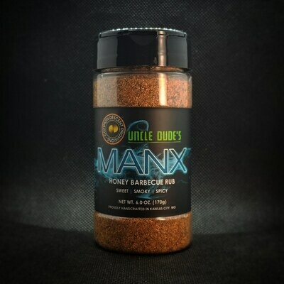 MANX: Honey Barbecue Rub, 6.0 oz.