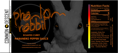 PHANTOM RABBIT: Roasted Curry Habanero Sauce, 4 oz.
