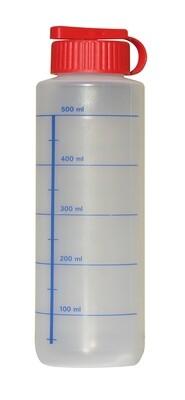 Serviceflasche neutral mit Skala 500 ml