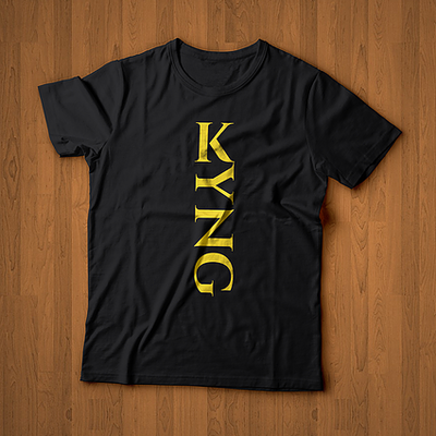 KYNG Black/Gold Tee ROYALTY Series