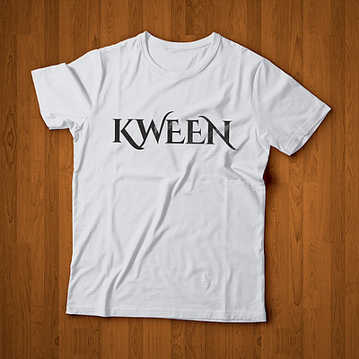KWEEN White/Black Tee ROYALTY series