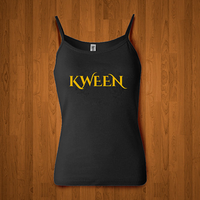 KWEEN Black/Gold, White/Black Tank ROYALTY SERIES