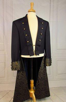 Navy Steampunk Frock Coat