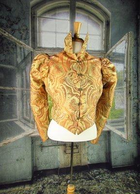 Victorian Brocade Handmade Riding Jacket