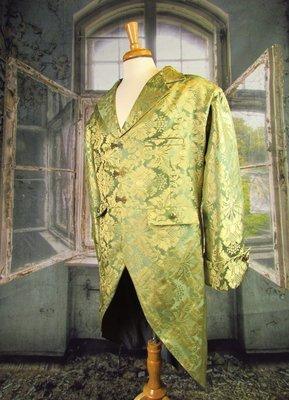 Green French Brocade Coat