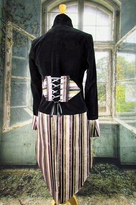 Women's Velvet Pinstripe Tailcoat