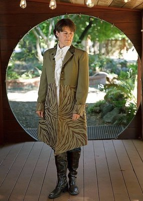 Olive Green Steampunk Peacoat