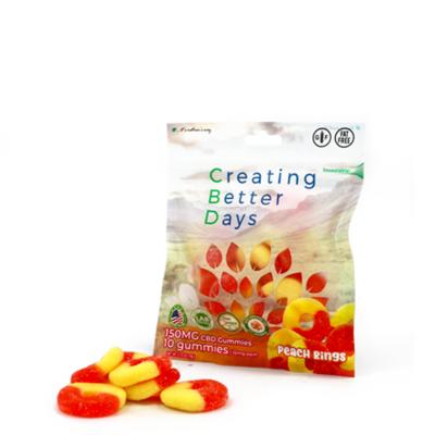 CBD Gummy Peach Rings - 150mg