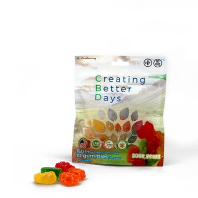 CBD Sour Gummy Bears - 150mg