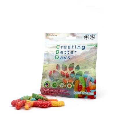 CBD Sour Gummy Worms - 150mg
