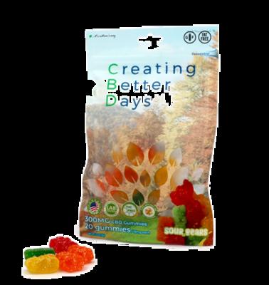 CBD Sour Gummy Bears -300mg
