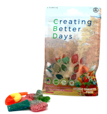 CBD Sour Gummy Variety Pack - 300mg