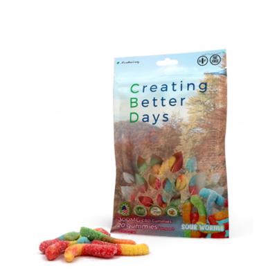 CBD Sour Gummy Worms - 300mg