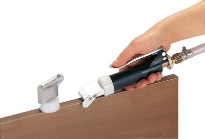 Nozzles for PVA Edge Gluing