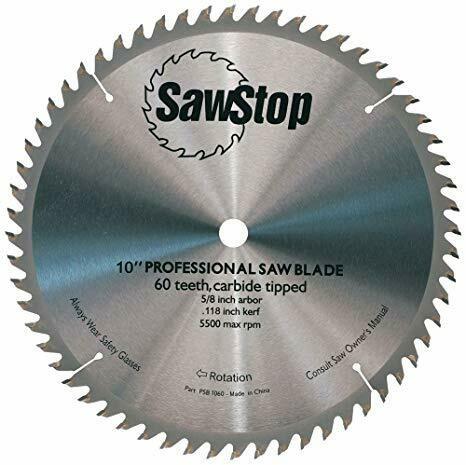 """10"""" 60 Tooth Sawblade - SawStop"""