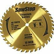"10"" 40 Tooth Titanium Sawblade - SawStop"