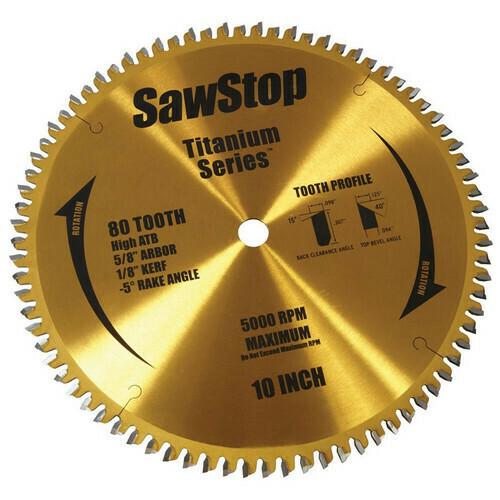 "10"" 80 Tooth Titanium Sawblade - SawStop"