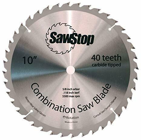 """10"""" 40 Tooth Sawblade - SawStop"""