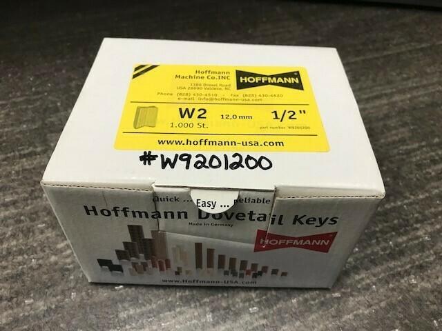 "Hoffmann W2 1/2"" Dovetail Keys (Box of 1000)"