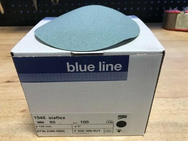 """SIA 5"""" Velcro Sanding Disc 80 Grit (Box of 100)"""