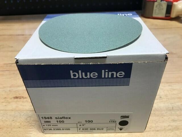 """SIA 5"""" Velcro Sanding Disc 100 Grit (Box of 100)"""