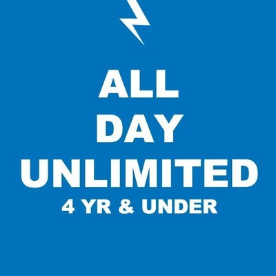 1 UNLIMITED PLAY pass / 4 YR & UNDER