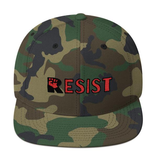 """RESIST,"" Snapback, Flat Brim, Yupoong Wool Blend Hat"