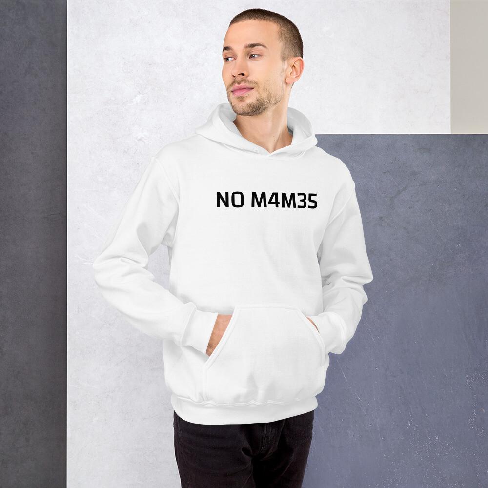 NO M4M35, men's heavy cotton hoodie
