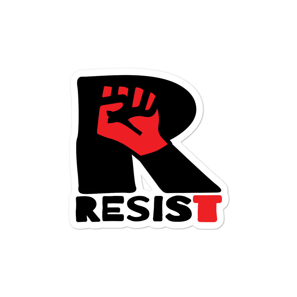 RESIST Kiss-cut Bubble-free vinyl sticker