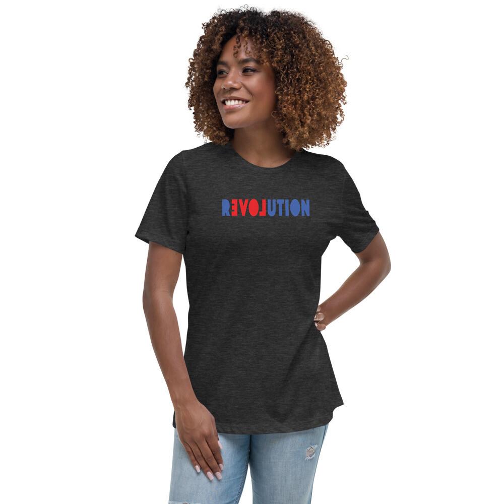 REVOLUTION LOVE women's Relaxed T-Shirt