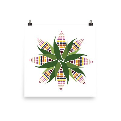Sacred Corn Circle. Museum quality paper poster
