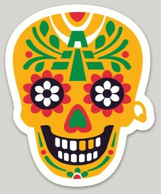 Calaca Maya sticker